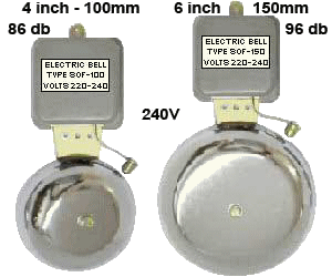"Andeli Chrome Bell 4""  100mm 6""  150mm"