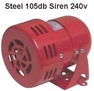 Andeli Loud Siren  105db Steel motorized Siren 240V